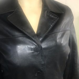 Nine West Leather Jacket sz L